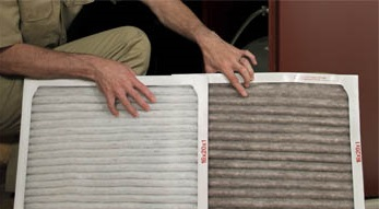 dirty clean furnace filter changing furnace filter images